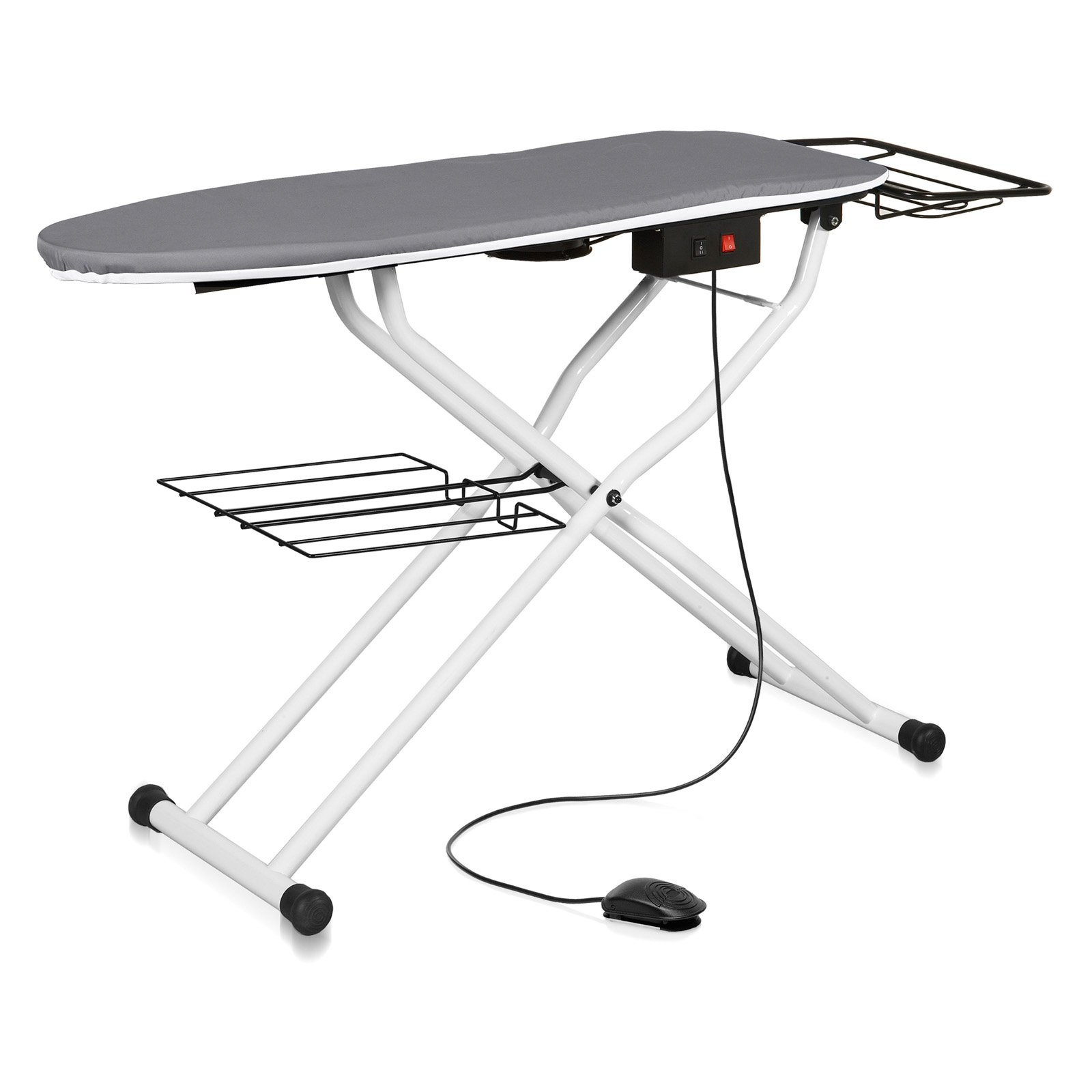 Reliable The Board Home Vacuum and Up-Air Pressing Table. Made in Italy, White, 500VB