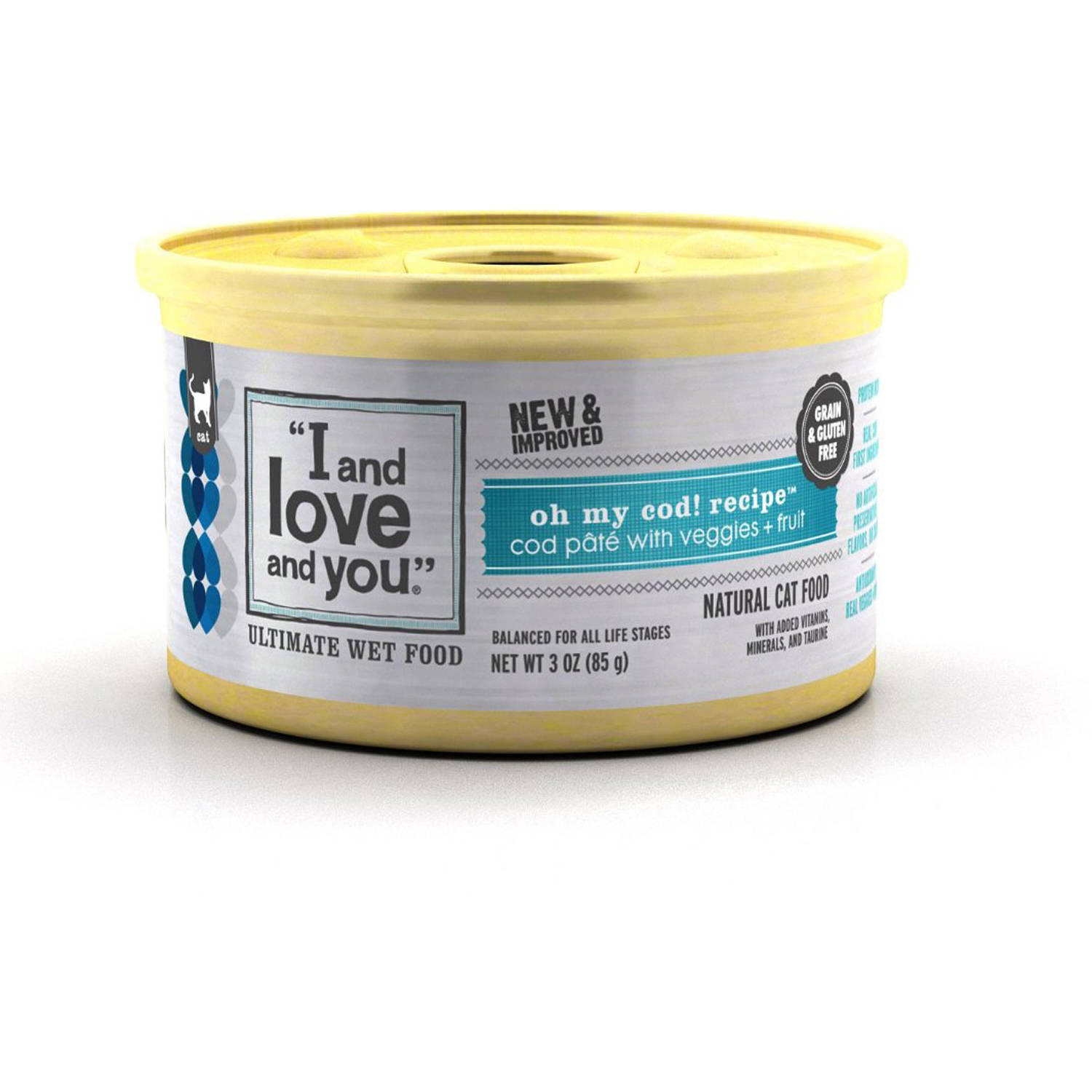 I And Love And You Oh My Cod! Pate Canned, 3 oz, 24-Pack