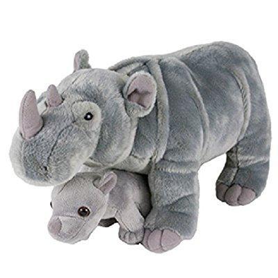 birth of life rhino and baby plush toy 14 long (Baby Rhino)