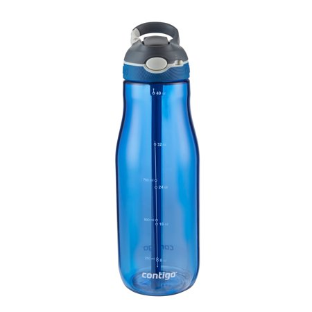 Contigo Autospout Ashland 40 Ounce Scube Water Bottle with (Best Water Bottle With Straw)
