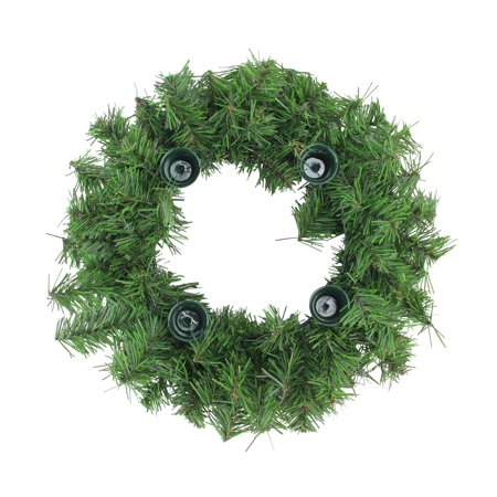 Two-Tone Pine Artificial X-mas Advent Wreath - Diy Advent Wreath