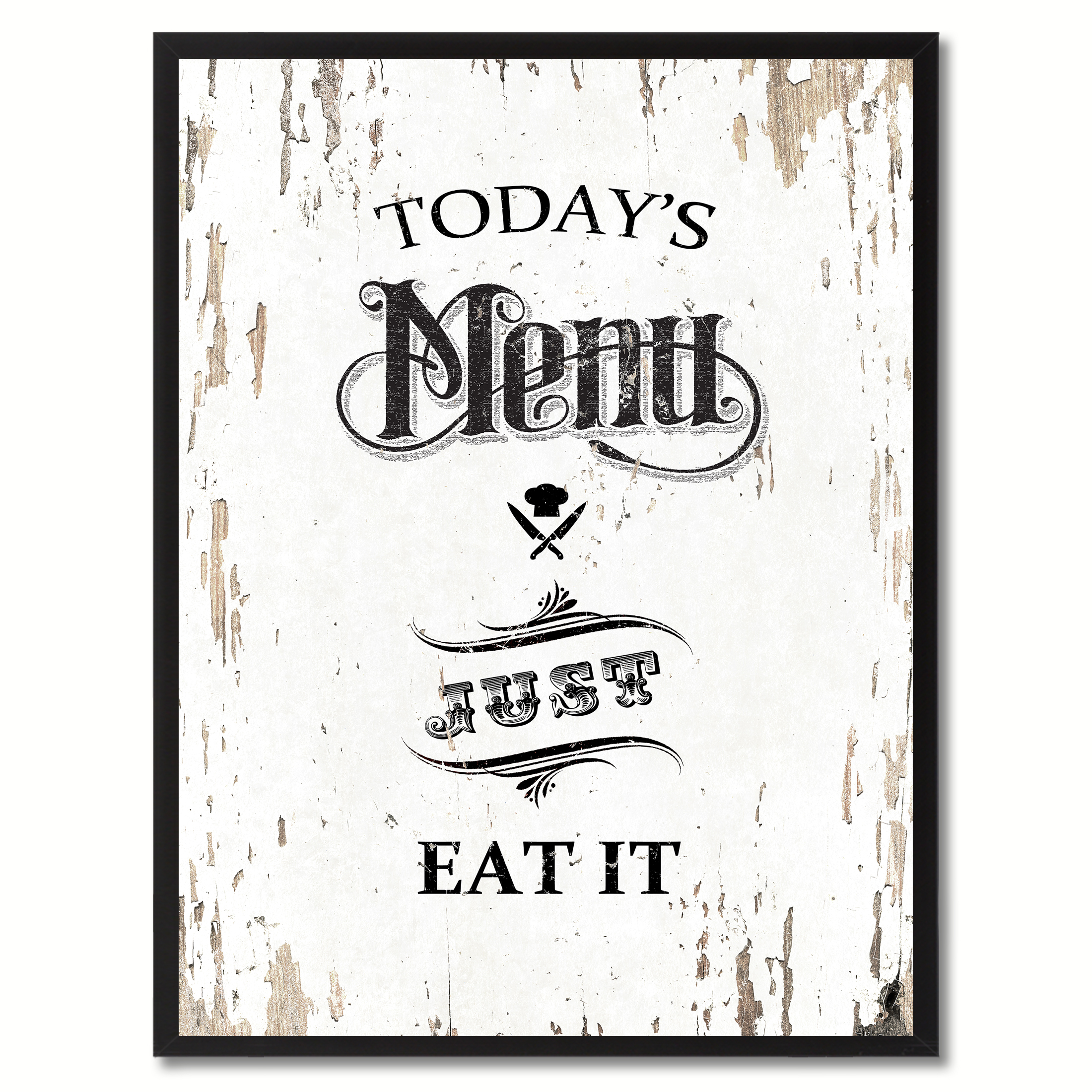 12 Home Decor Gift Ideas From Walmart: Today's Menu Just Eat It Quote Saying Canvas Print Picture