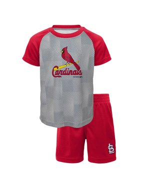 1bbd5e3939d Product Image Toddler Red St. Louis Cardinals Team Raglan T-Shirt and Shorts  Set