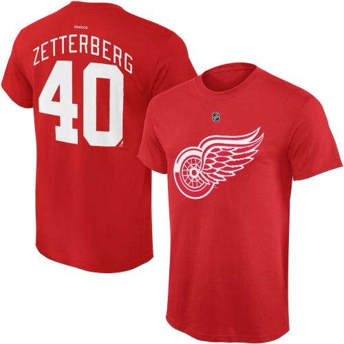 Henrik Zetterberg Detroit Red Wings Reebok Youth Name and Number Player T-Shirt - Red