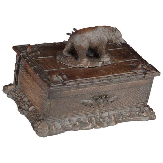 Black Forest Decor Bear Keepsake Box