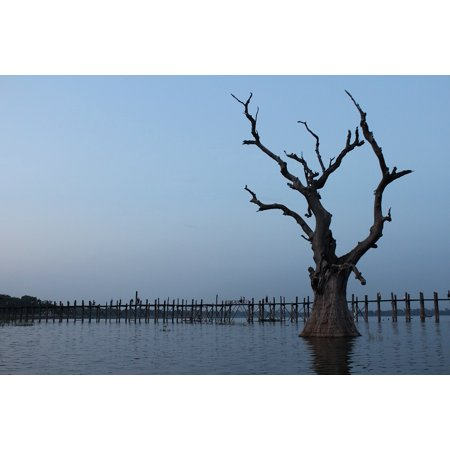 - Canvas Print Burma U-bein Bridge Teak Bridge Myanmar Bridge Stretched Canvas 10 x 14