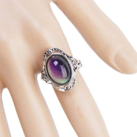 Mood Rings Color - Gypsy Boho Adjustable Oval Changing Mood Ring Finger Ring