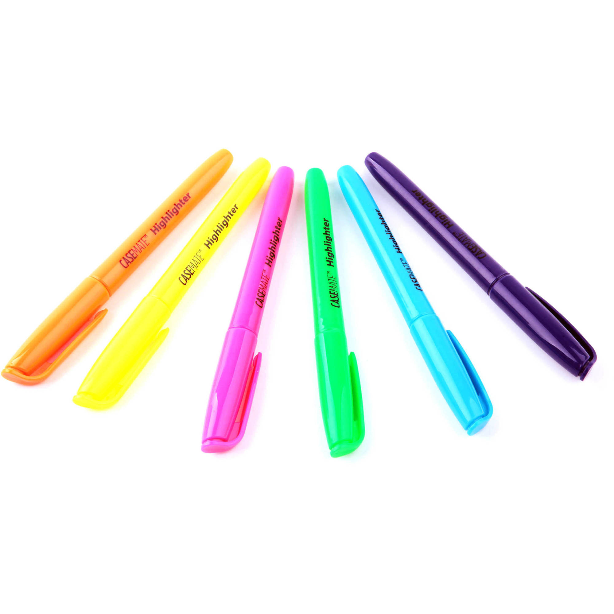 CaseMate Highlighters, Chisel Tip, Assorted Colors, 24pk