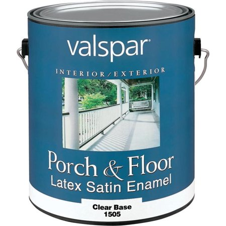Valspar 27 1500 latex enamel porch and floor paint 1 qt 400 sq ft gal clear base for Cost to paint 1500 sq ft house interior