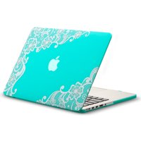 """Kuzy - Lace Rubberized Hard Case for Older MacBook Pro 15.4"""" with Retina Display A1398 15-Inch Plastic Shell Cover - Lace Pattern"""
