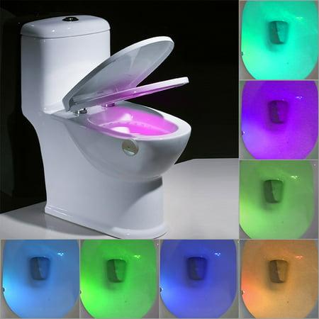 Lixada A   Power Saving Rgb 8 Colors Led Flexible Toilet Night Light Sensor Motion Activated