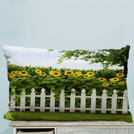 GCKG Amazing Sunflowers Pillow Case Pillow Cover Pillow Protector Two Sides 20x20 Inches - image 1 of 2