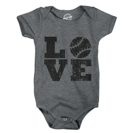 Romper Love Baseball Cute Baby Clothes Cool Newborn Undershirt