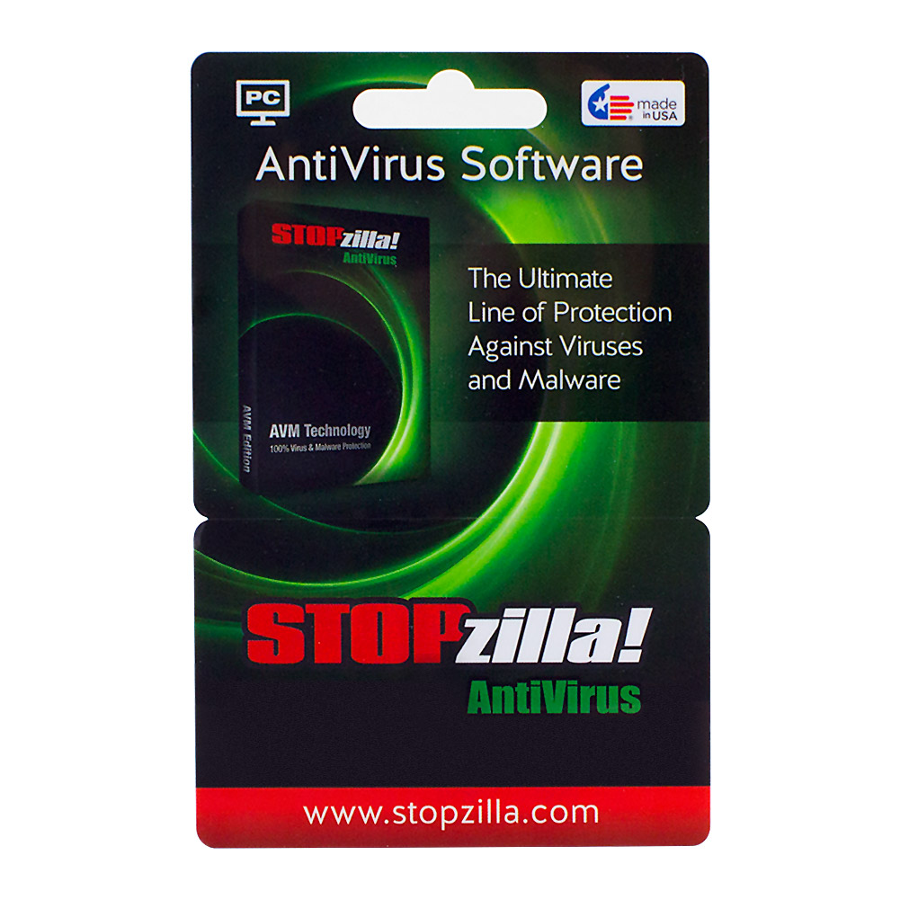 Stopzilla AntiVirus 7.0 (Key Card) - Protect against Viruses, Spyware & Malware