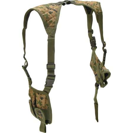 Deluxe Universal Horizontal Shoulder Holster (Woodland Digital Camo), TACTICAL GEAR, HOLSTERS, MAGAZINE POUCHES By UTG
