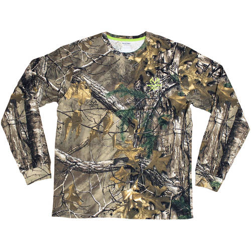 Men's Long Sleeve Camo Tee, Available in Multiple Patterns by Generic