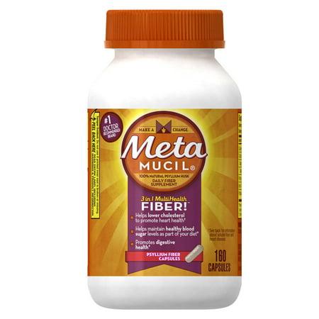Metamucil Multi Health Fiber Capsules By Meta  160 Capsule Bottle
