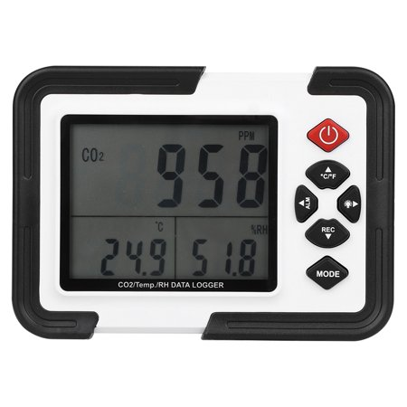 Ccdes CO2 Monitor Meter,HT-2000 CO2 Monitor Meter,HT-2000 Digital CO2 Monitor Meter Gas Analyzer Detector 0~9999 ()