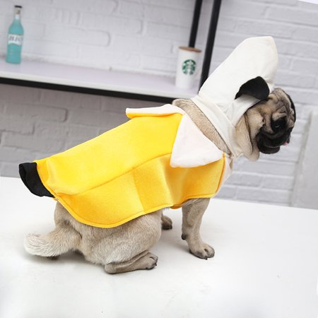 HURRISE Funny Banana Style Dog Clothes Fashion Halloween Puppy Cosplay Suit Outfit Theme Party Costume, Dog Outfit, Dog Clothes