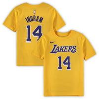 6d4f45d26dca Product Image Brandon Ingram Los Angeles Lakers Nike Preschool Name    Number T-Shirt - Gold