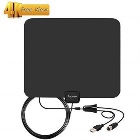 PACOSO 2018 Newest Version Digital - Amplified HD TV Antenna 60 Miles Range  with Detachable Amplifier Signal Booster