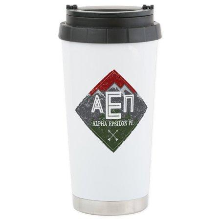 CafePress - Alpha Epsilon Pi Diamonds Mugs - Stainless Steel Travel Mug, Insulated 16 oz. Coffee Tumbler