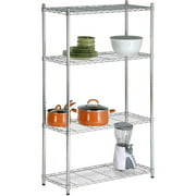 Honey Can Do Urban Shelving 4-Tier Adjustable Storage Shelving Unit, Chrome
