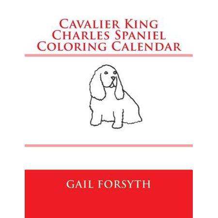 Cavalier King Charles Spaniel Coloring Calendar by