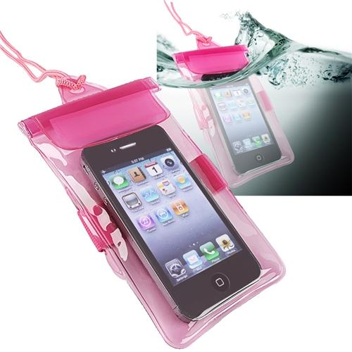 Insten Hot Pink Waterproof Dry Bag Carrying Case Phone Holder Universal for Cell iPhone SE 5 5S 5C 4S 4