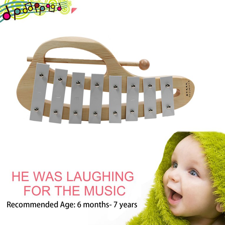 2017 Hot Sale TH8 Children Kids 8 Notes Wooden Xylophone Early Childhood Music Instrument... by