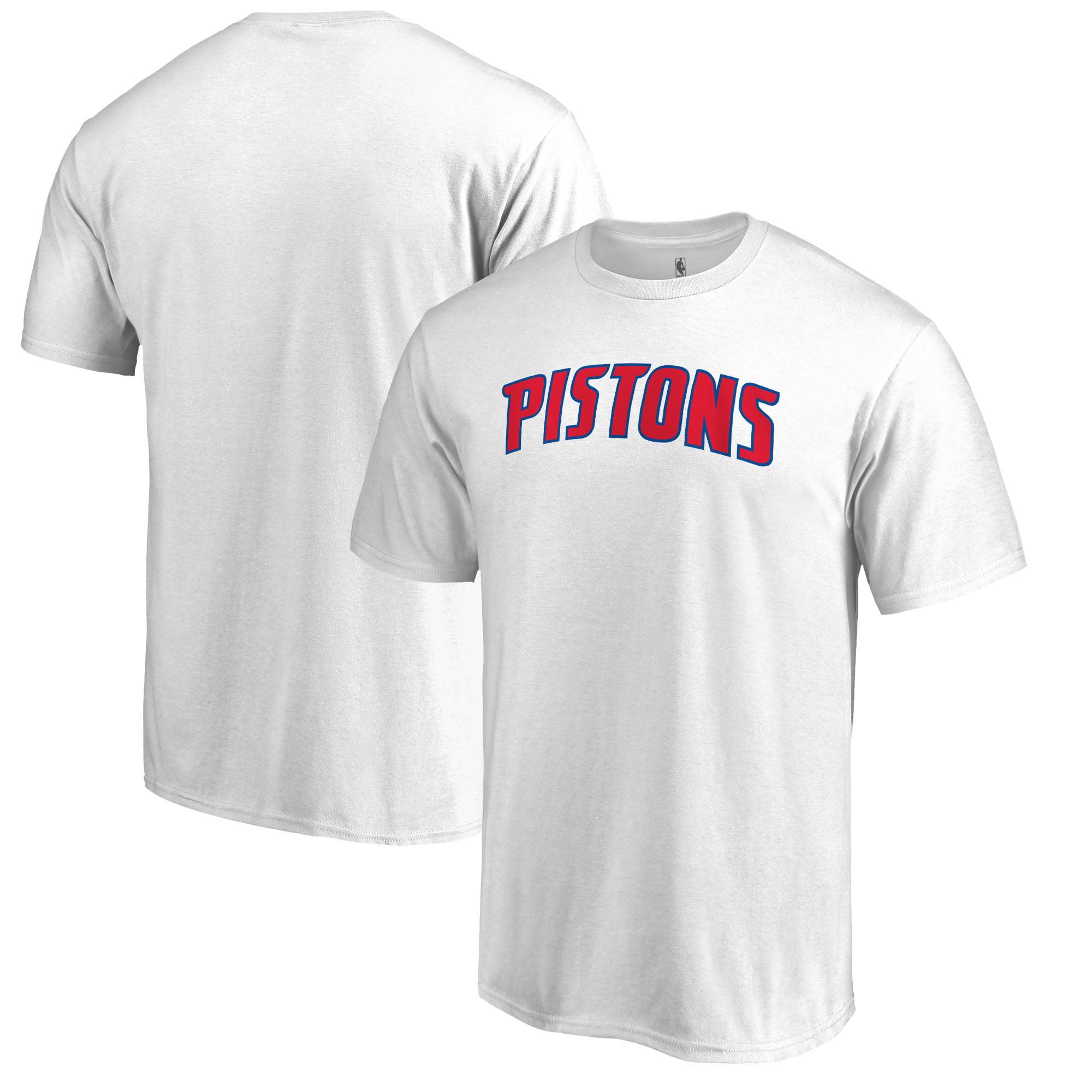 Detroit Pistons Fanatics Branded Primary Wordmark T-Shirt - White