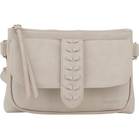Kensie Women's Whipstitch Belt Bag - Fashion Waist Bag with Adjustable Strap - Crossbody Sling Purse Fanny Pack - Clay 1960's Womens Accessories Belt