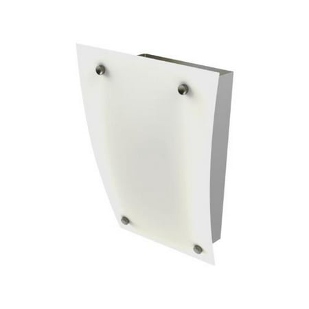 One-Light 18W Fluorescent Wall Sconce Brushed Nickel Frosted White Matte Glass