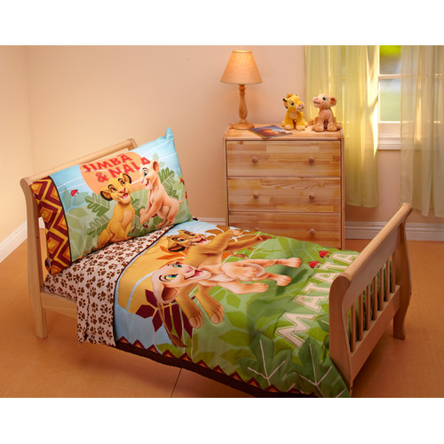 DISCONTINUED - Lion King - Jungle Beat 4-Piece Toddler Bedding Set