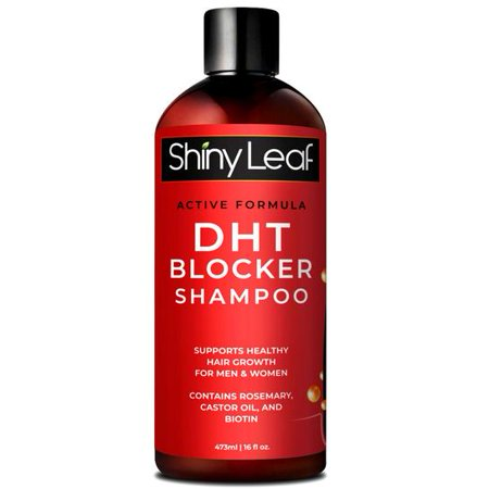 DHT Blocker Shampoo for Hair Loss, for Men & Women, Active Formula, Natural DHT Blocking Shampoo for Hair Growth, Reduce Shedding, For Thinning Hair, Hair Fall and Hair Loss Treatment Shampoo 16