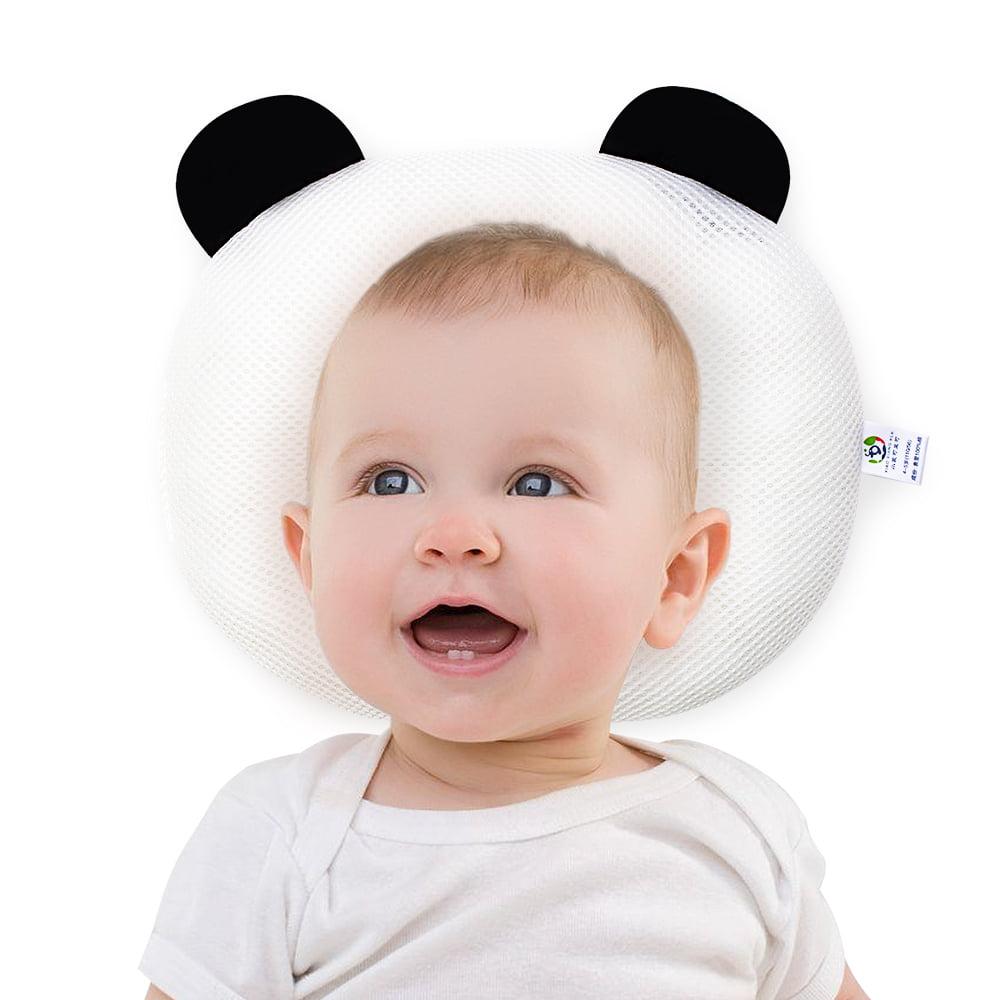 Infant Support Head Pillows Soft Baby Nursery Pillows Unisex Newborn Head Shaping Pillow Support Head Sleep Pillows 0-12 M Beige