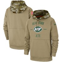 New York Jets Nike 2019 Salute to Service Sideline Therma Pullover Hoodie - Tan