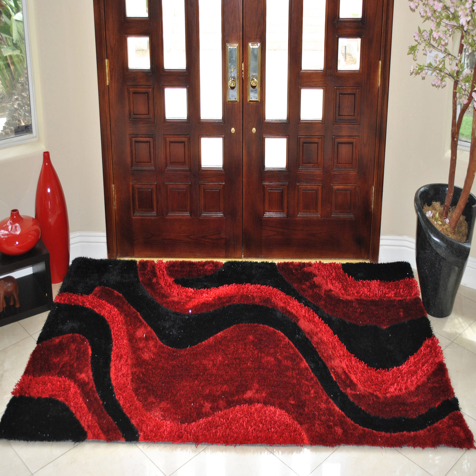 3D Poly-Silk Area Rug