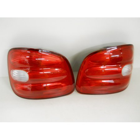97 98 99 00 Ford F150 Flareside Pickup Truck Brake Tail Light Lamp Lens Housings