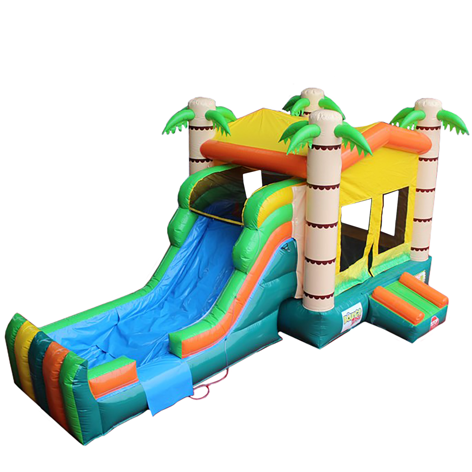 Inflatable Commercial Grade Bounce House Tropical 100% PVC With Blower