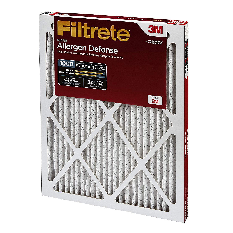 Filtrete MPR 1000 16 x 25 x 1 Micro Allergen Defense HVAC Air Filter 4-Pack