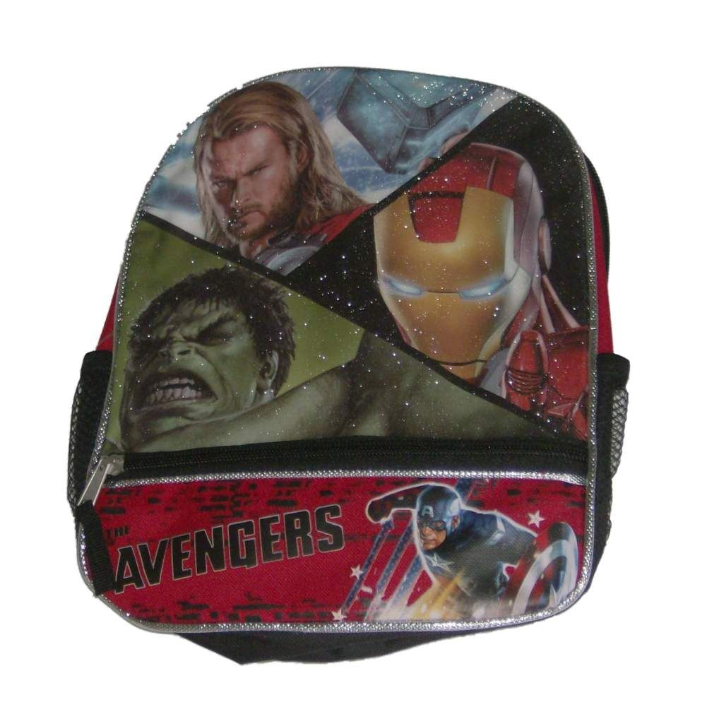 Marvel Avengers Mini Backpack Hulk Thor Ironman Sparkle Back Pack