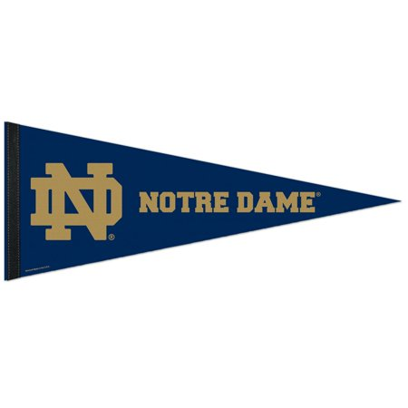 Notre Dame Flag (Notre Dame Fighting Irish Official NCAA 12 inch x 30 inch Felt Pennant by)