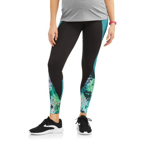 Moda Maternity Sport Color Block Over the Belly Active Legging