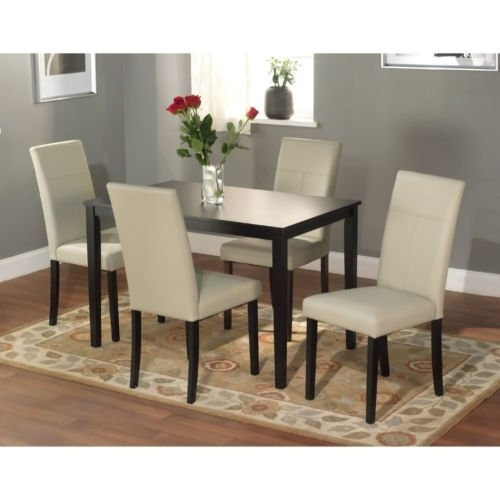 Dining Tables Set This 5 Piece Dining Room Furniture Set Is Elegant for Any Dining Room Area, Dining Chairs Are Very Comfortable