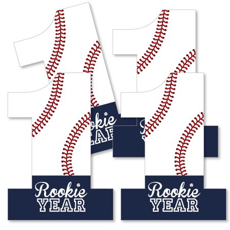 1st Birthday Batter Up - Baseball - One Shaped Decorations DIY First Birthday Party Essentials - Set of 20