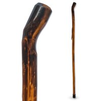 """RMS Natural Wood Walking Stick - 48"""" Handcrafted Wooden Hiking Stick and Trekking Pole with Wrist Strap (Smooth Handle)"""