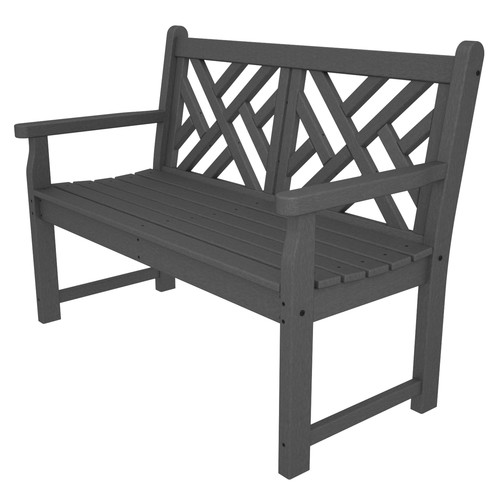 POLYWOOD® Chippendale Recycled Plastic 4 ft. Bench