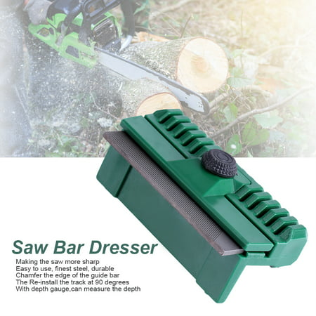 Image of LHCER 11*6*4cm Universal Fine Steel Chainsaw Chain Guide Bar Rail Dresser Lawn Garden Tool, Bar Rail Dresser, Chainsaw Dresser
