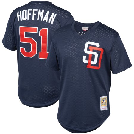 Trevor Hoffman San Diego Padres Mitchell & Ness Cooperstown Collection Mesh Batting Practice Jersey - Navy